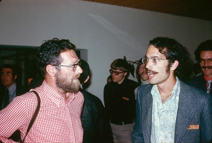 E. W. Dijkstra and Paul McJones at Marktoberdorf Summer School, 1973